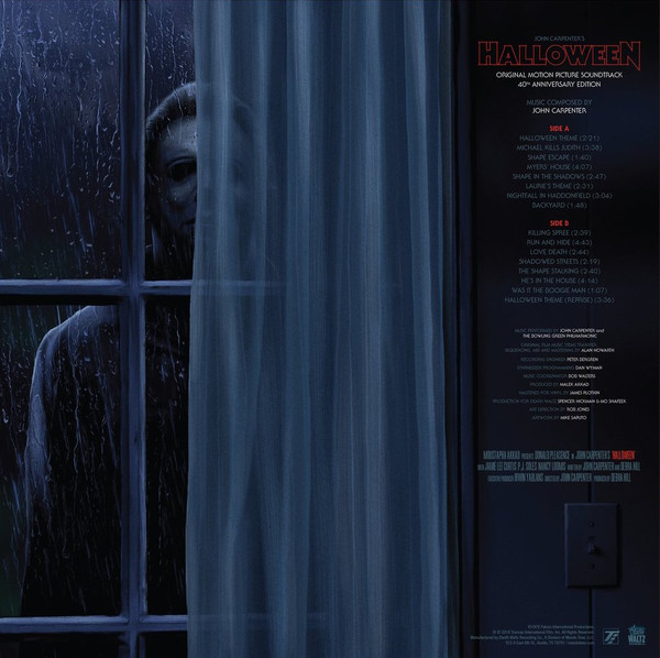 JOHN CARPENTER: Halloween: 40th Anniversary Edition (Original Soundtrack) LP