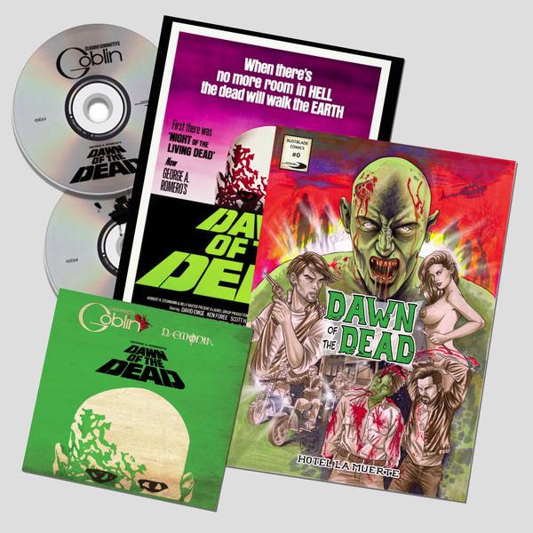 CLAUDIO SIMONETTI'S GOBLIN: Dawn Of The Dead Soundtrack 2CD + Comic Book + Poster (Limited Edition)