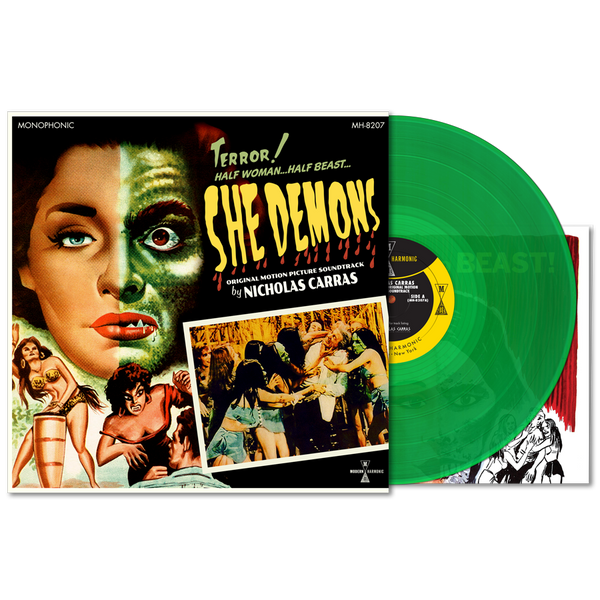 NICHOLAS CARRAS: She Demons (Original Motion Picture Soundtrack) (Green Vinyl) LP+Poster