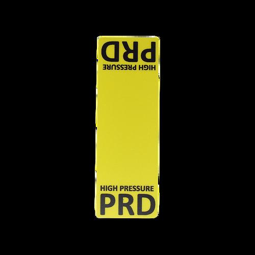 PRD High Pressure Line Circuit Decal