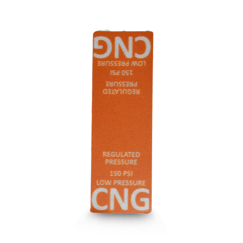 Regulated Low Pressure Line Decal