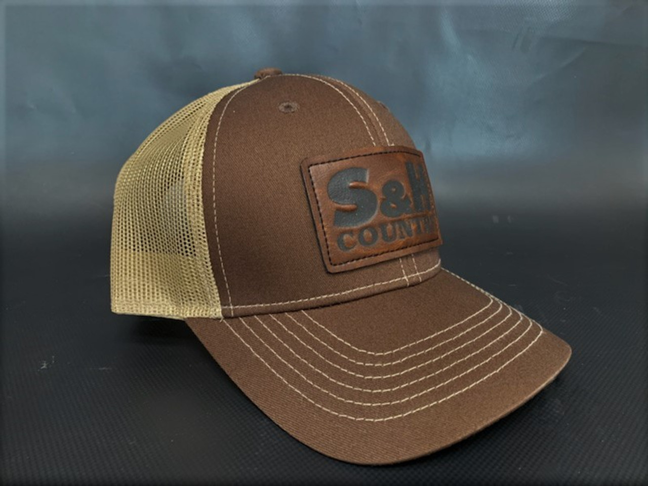 Rustic Brown Patch S&H Farm Supply Snap Back