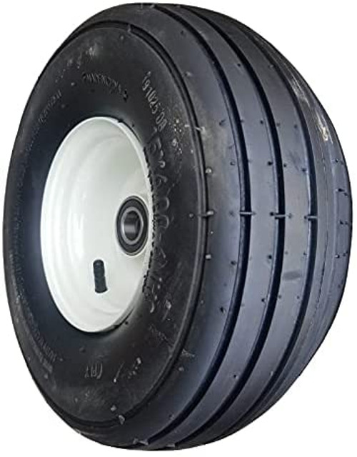 """Tedder Tire and Wheel with 2"""" Hub Length (Offset) for 1"""" Axle (15x6.00-6) 6ply"""