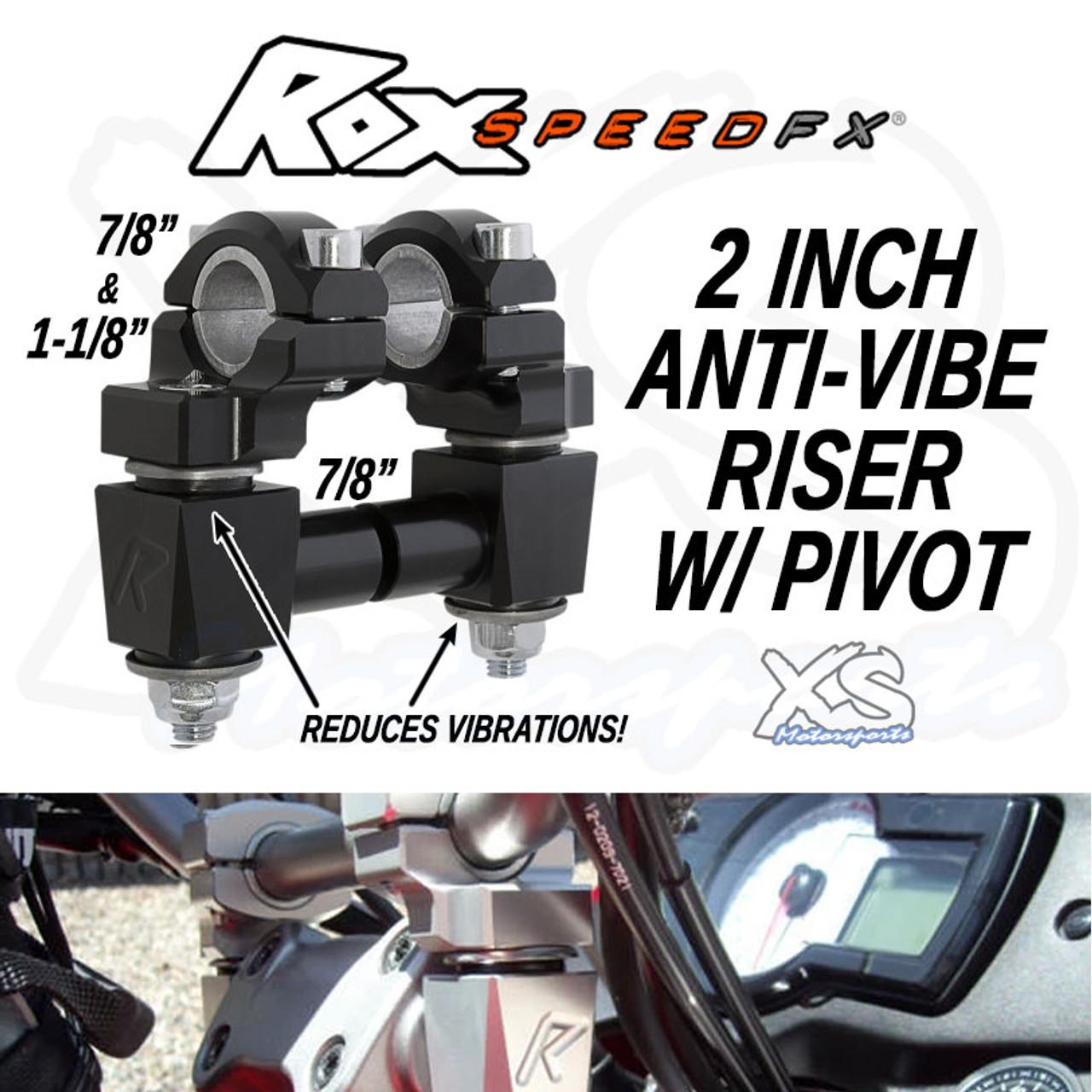 "Rox Speed FX Elite Series Anti-Vibration 2/"" Inch Pivot Risers"
