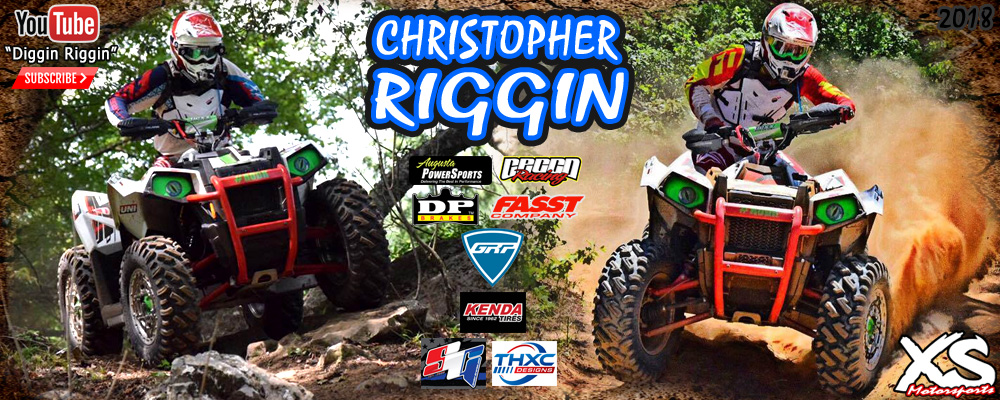 Christopher Riggin ATV Racing GNCC 4x4 Champion