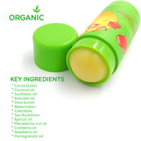 Choco Smooch Organic Baby Lip & Face Balm, with Argan, Calendula & Sea Buckthorn Jumbo, 1oz