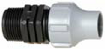 Nutlock x MBSP Threaded Fitting for LDPE Pipe