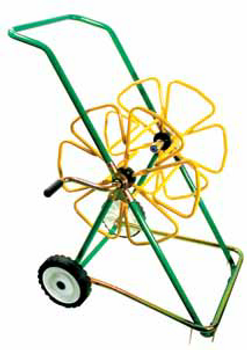 Portable Hose Trolley with stabiliser