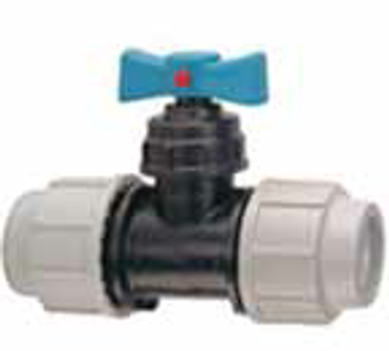 MDPE Stock Cock Valve Isolator Compression Fitting