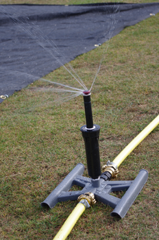 Sprinkler Watering System for one Wicket of a Cricket Square