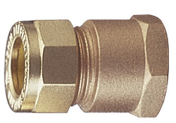 Brass Compression Copper x Female Threaded Adapter