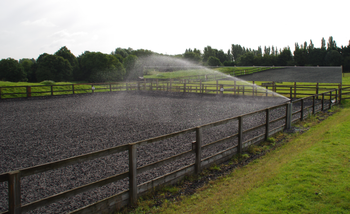 Outdoor riding arena watering