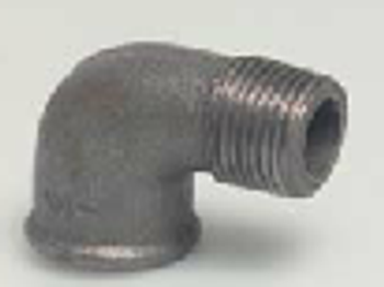 Black Iron Steel Metal  Male/Female M/F Elbow 90°