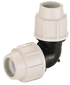 MDPE Plasson Coupler Elbow Joiner compression fitting