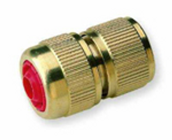 Hoselock type hose x brass quick connecter with shut off valve