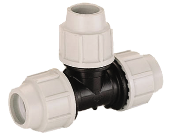 MDPE Plasson Tee Joiner compression fitting