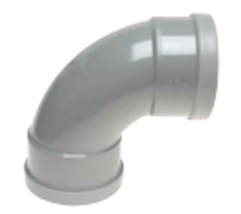 PVC Water Collection Pipe Fitting 90Degree Bend Rubber Ring FXF