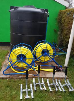 Bowls Club 4 Sprinkler Remote Hose Watering Kit