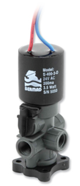 Bermad 3 Way Solenoid Coil Pilot on Base S-400-3W