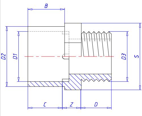 PVC Adaptor Dimensions