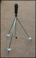 sprinkler on tripod