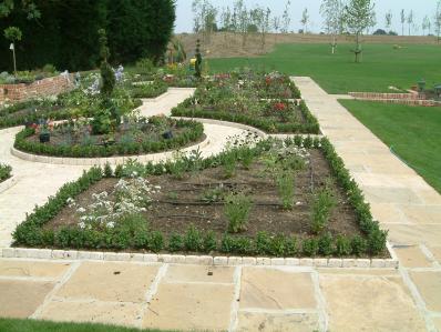 Garden with TechNet drip line