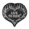 Heart Rhinestone Motorcycle Helmet Patch