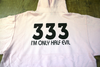 3 3 3 I'm Only Half Evil pink hoodie