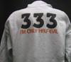 3 3 3 I'm Only Half Evil Biker T-Shirt