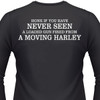 Honk If You Have Never Seen A Loaded Gun Fired From A Moving Harley on the back of a TShirt.