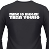 Mine Is Bigger Than Yours Biker T-Shirt