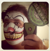 Sam Deyung Sent us this image of his Evil Clown Neoprene Face Mask.