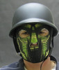 snake face mask with a german helmet