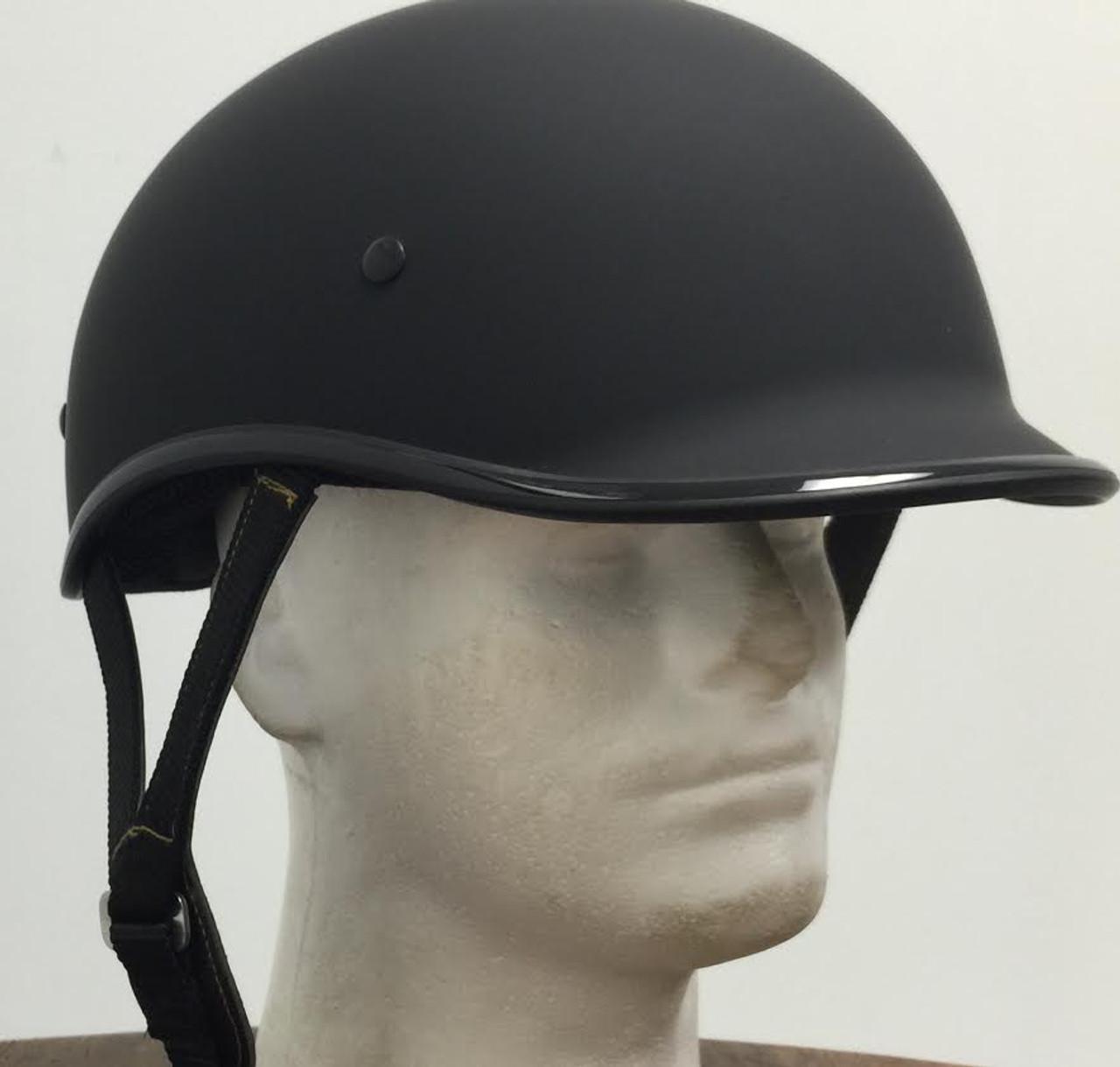 98a4f6fb49d DOT Polo Jockey Flat Black Motorcycle Helmet