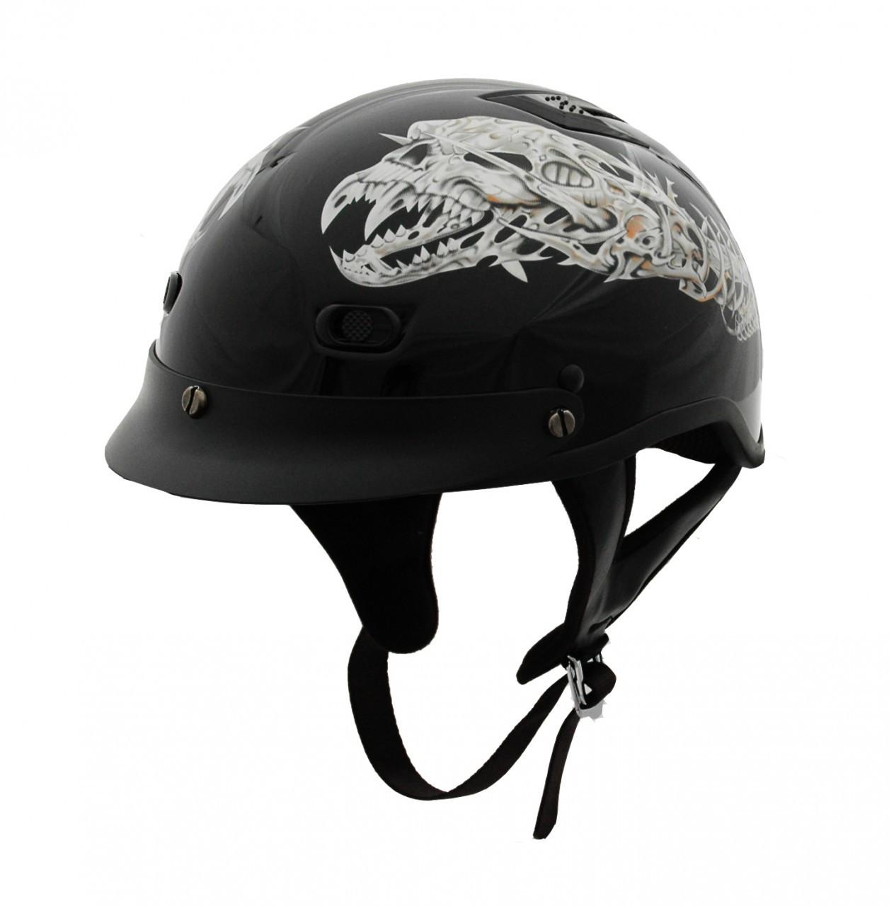 86b9d57b0c9 DOT Polo Jockey Alien Motorcycle Helmet