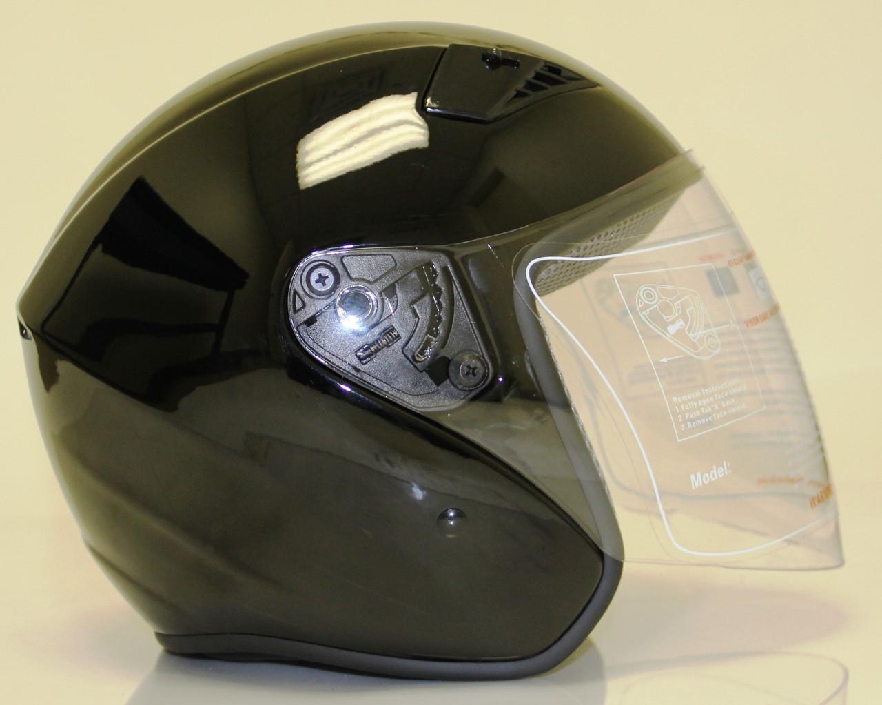 4e77d798 DOT ¾ Shell RK5 Black Motorcycle Helmet with removable visor