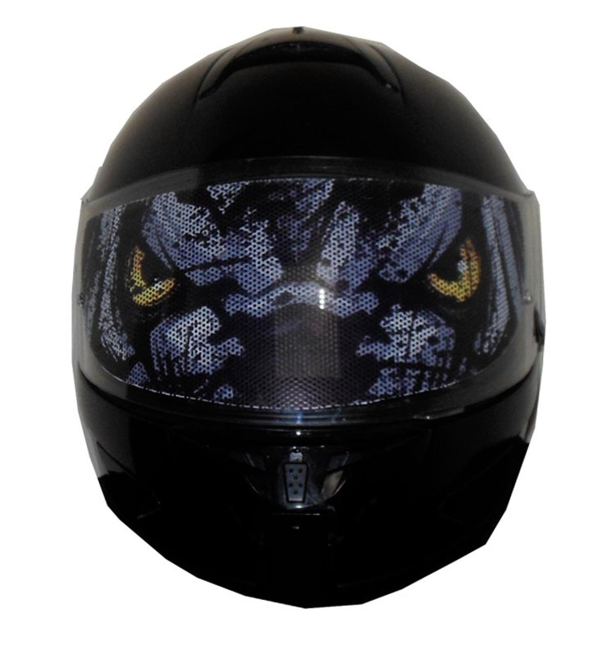 Wolf eyes full face modular motorcycle helmet visors