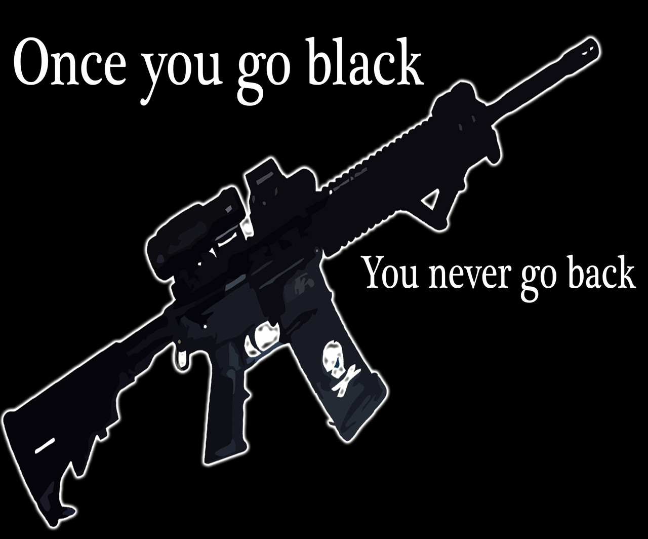 Once You Go Black You Never Go Back T-Shirt and motorcycle