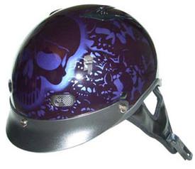 Purple Motorcycle Helmet