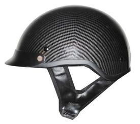 DOT Carbon Fiber Look Shorty Motorcycle Helmet