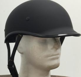 102 DOT Polo Jockey Flat Black Motorcycle Helmet
