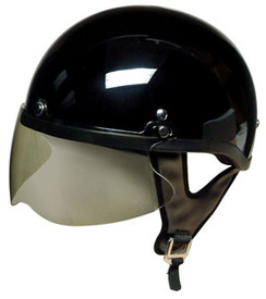 The shield on a helmet