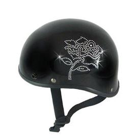 Rose Rhinestone Motorcycle Helmet Patch