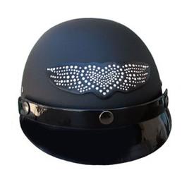 Winged Heart Rhinestone Helmet Patch