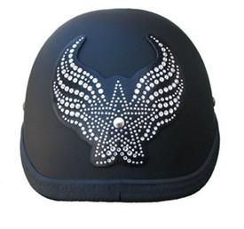 Winged Star Rhinestone Helmet Patch
