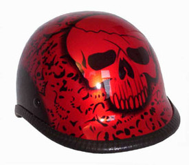 Polo BY Red Novelty Motorcycle Helmet
