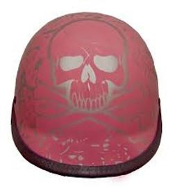 BoneYard Pink Polo Jockey Novelty Motorcycle Helmet