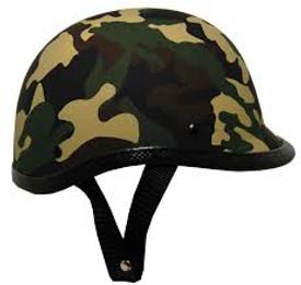 Novelty Camouflage Jockey Motorcycle Helmet