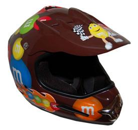DOT MotoX Motocross Kyle Busch M&M Brown Motorcycle Helmet