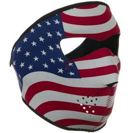 USA Flag Neoprene Face Mask Side